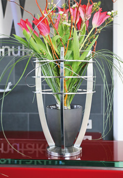 Vase Celestra mit Glaseinsatz