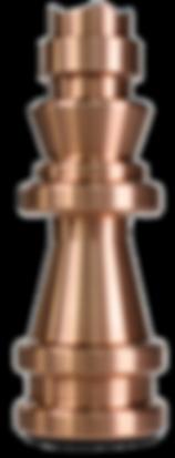 MWE Schachfigur Edelstahl-Kupfer König