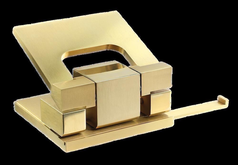Edelstahllocher in Gold