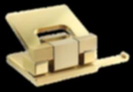 MW Interior Büroausstattung Locher Messing Gold