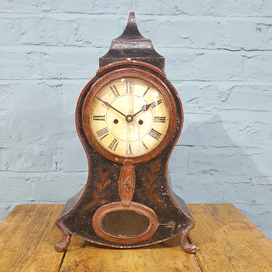 677 - Mid 19th Century Swiss Mantel Clock