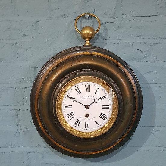 586 - Paul Garnier tole wall clock
