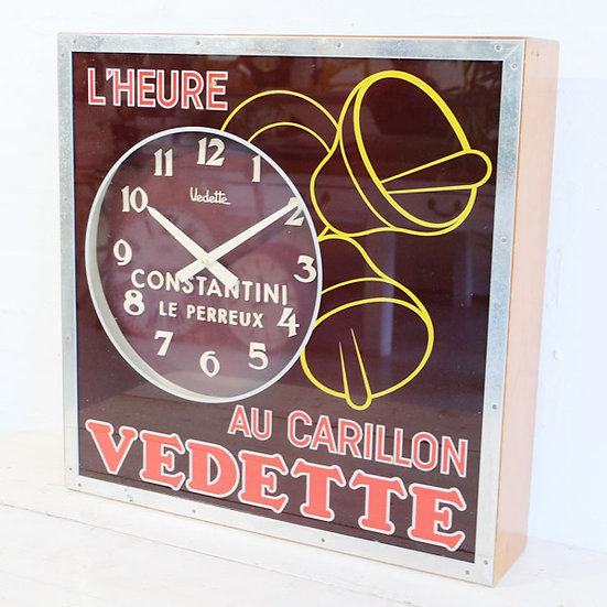 271-French Art Deco Advertising Clock