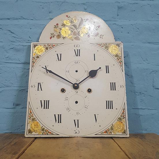 687 - Antique Grandfather/ Longcase Working Clock Dial
