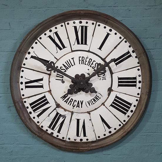 646 - Huge Enamel Turret Clock