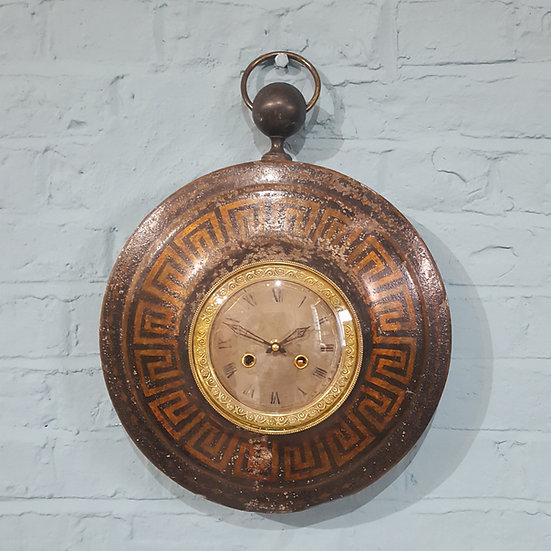 660- French Tole Wall Clock