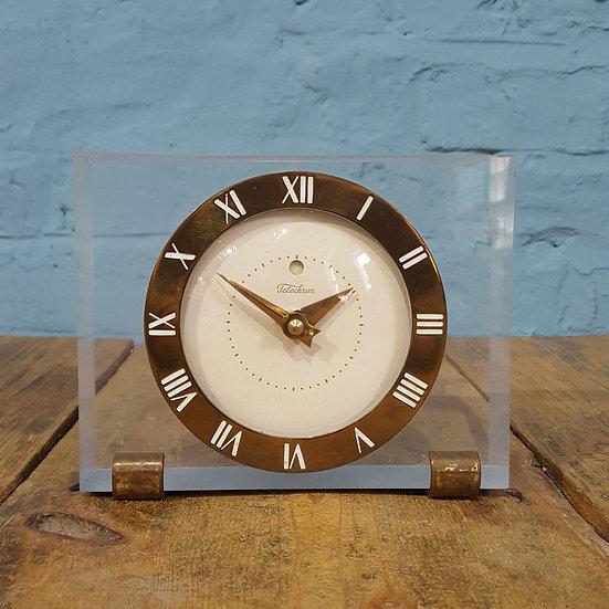 674 - An American 70s Acrylic Mantel Clock