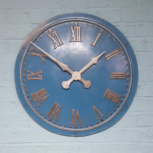 702 - Blue Convex Turret Clock