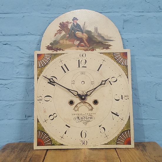 688 - 19th Century Antique English Clock Dial (Working)
