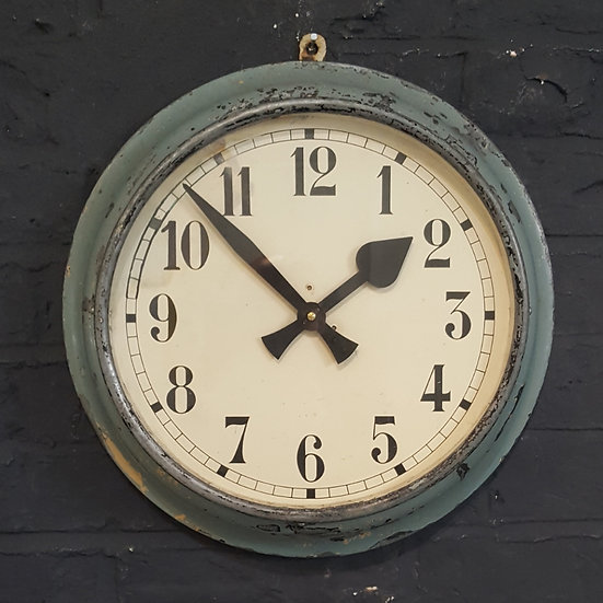 647 - Distressed French Metal Wall Clock