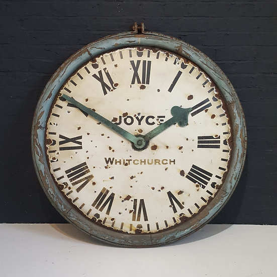 644 - Joyce, Whitchurch, Antique Station / Railway Clock