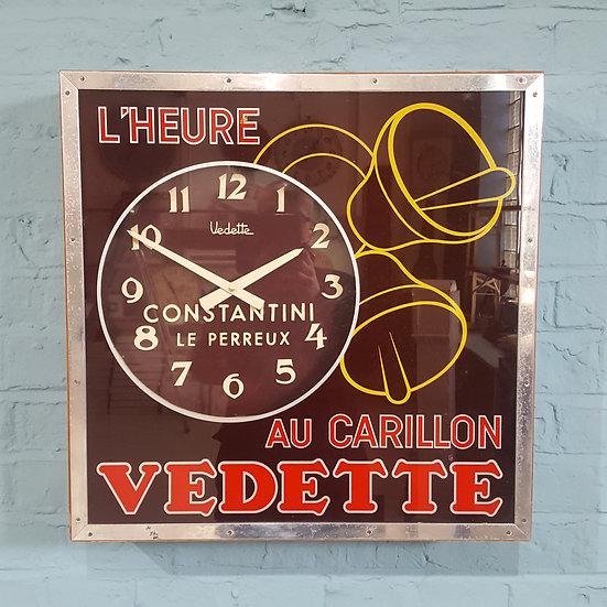 668-Unusual Art Deco French Advertising Clock