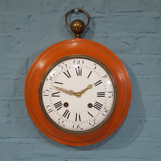 659-19th Century Elegant French Wall Clock