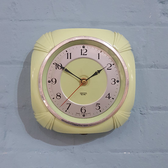 665 - Smiths Lime Green Wall Clock