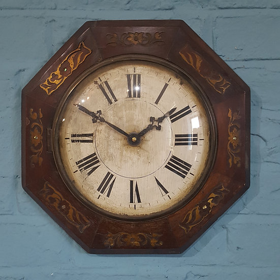437-Octagonal Black Forest Clock