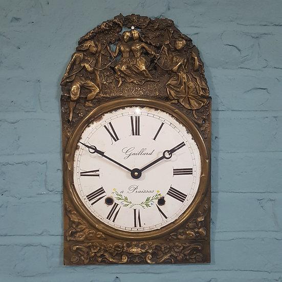 669-French Enamel Dial Wall Clock