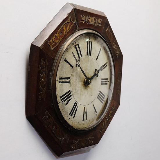 437-Octagonal Black Forest Clock