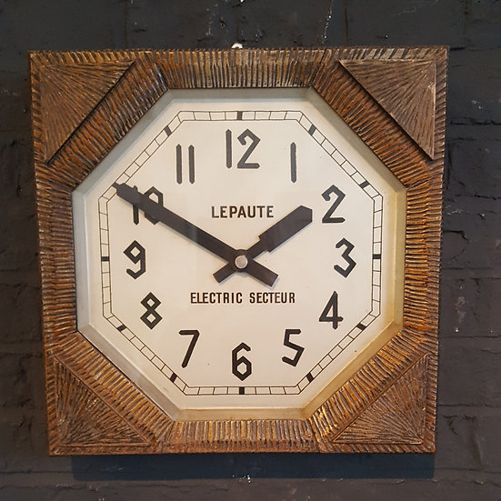603 -ART DECO FRENCH WALL CLOCK