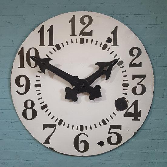 393-Large French enamel wall clock
