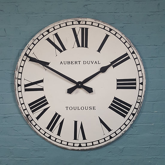 692 - Large French Metal Wall Clock