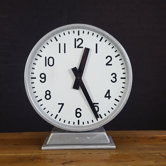 591 - 2 Sided Industrial/ Factory/ Station/ Railway Clock