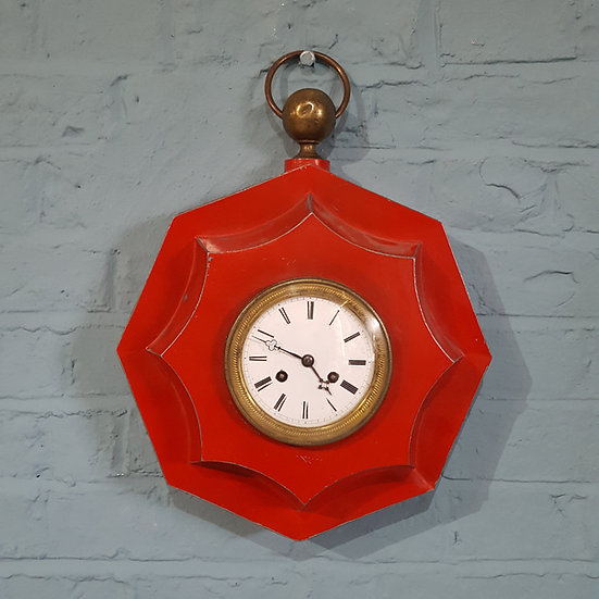 404-Striking 19th Century French Tole Clock