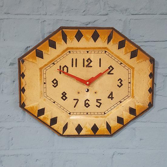 654-Octagonal Art Deco Wall Clock