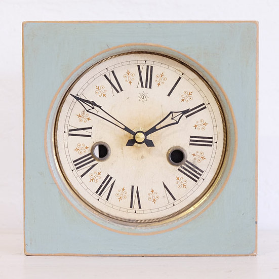 084-Antique Clock Dial in Boxed Frame