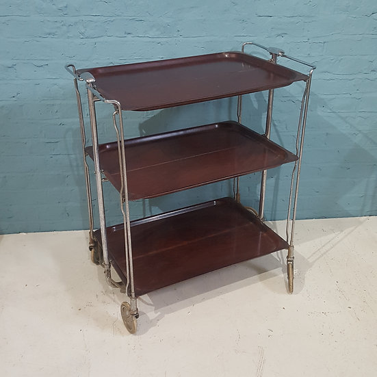 671-Mid Century Modern Folding Trolley
