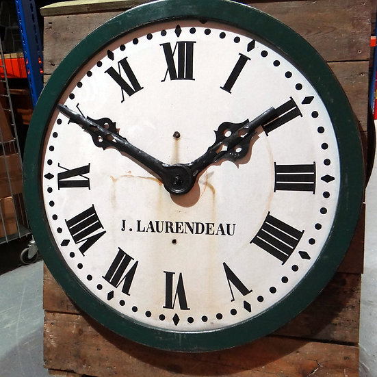 496-French Enamelled Turret Dial