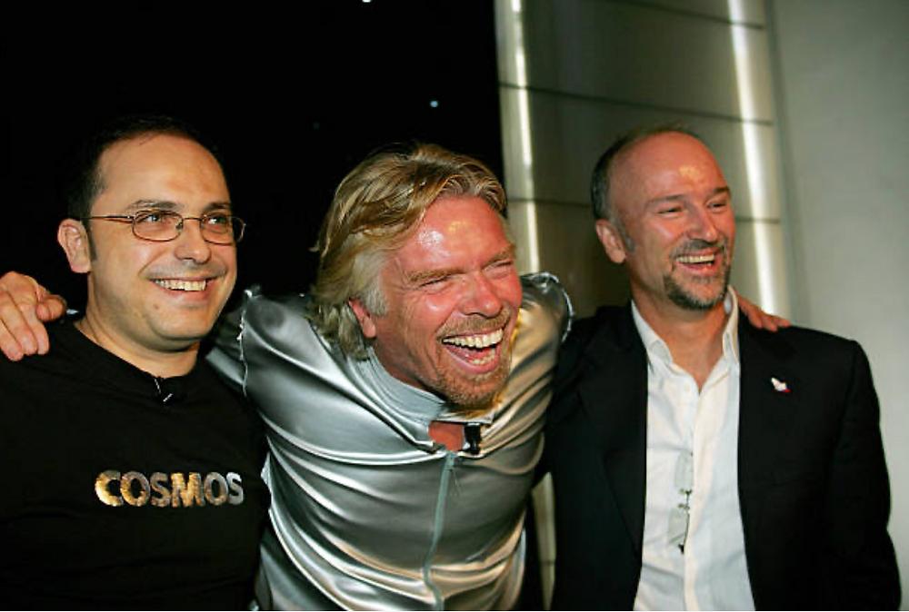 Happier days: Wilson da Silva (left), Richard Branson and Brett Godfrey in Sydney in 2005.
