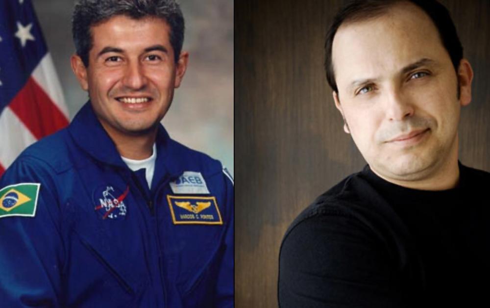 O astronauta brasileiro Marcos Pontes e o turista espacial Wilson da Silva