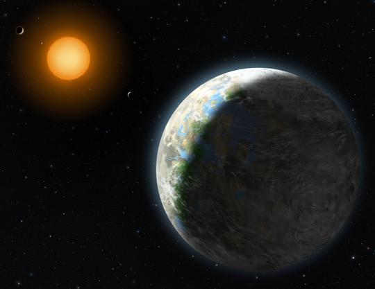 Concepção artística do Gliese-581; internautas irão enviar mensagem ao planeta até o dia 24 de agosto