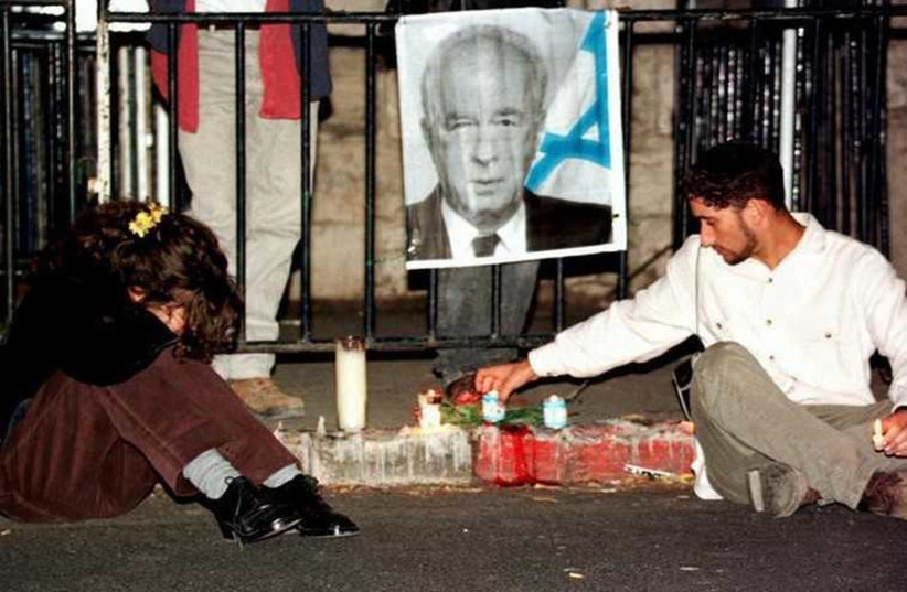 Israelis mourn the assassination of Prime Minister Yitzhak Rabin