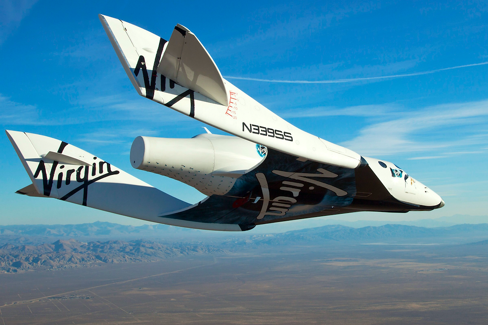 VSS Enterprise on its milestone first free flight