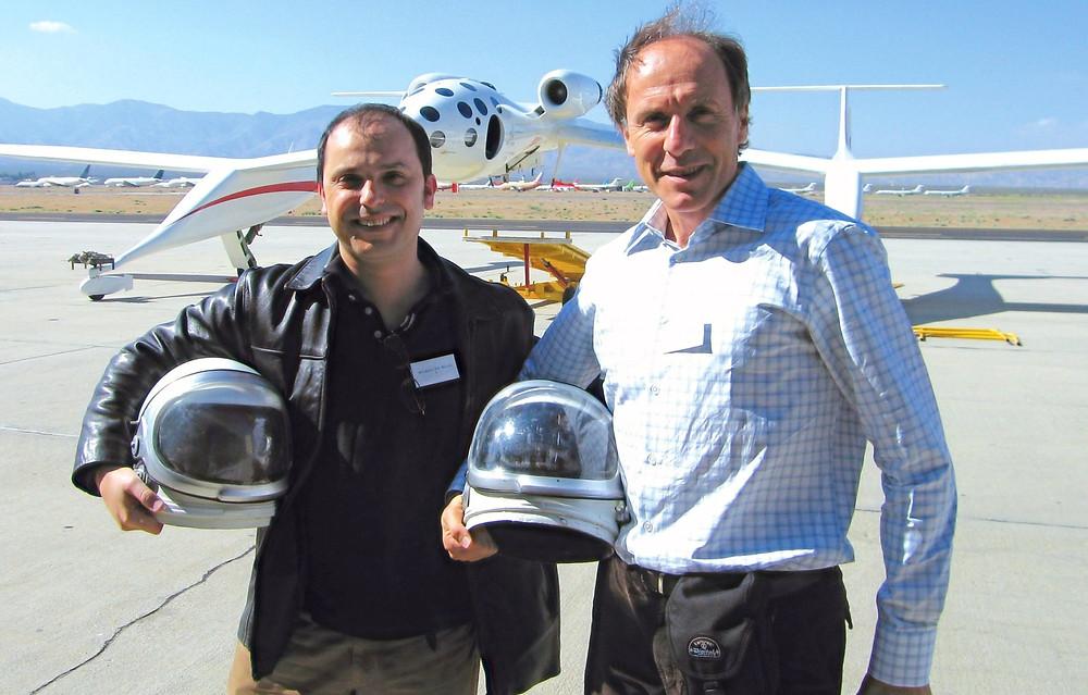 Wilson da Silva with fellow astronaut-in-waiting Alan Finkel