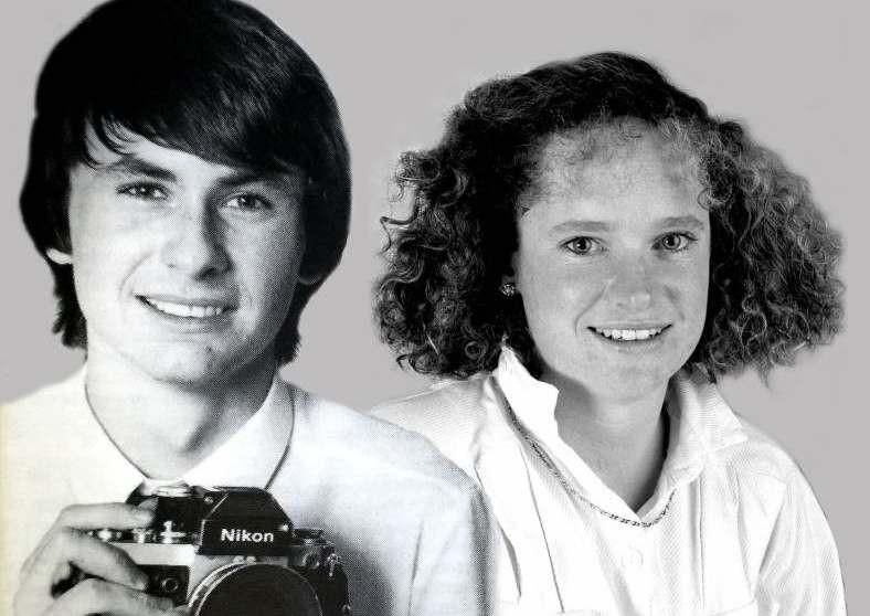 Herald photograpaher David Porter and journalist Helen Pitt, September 8, 1986.