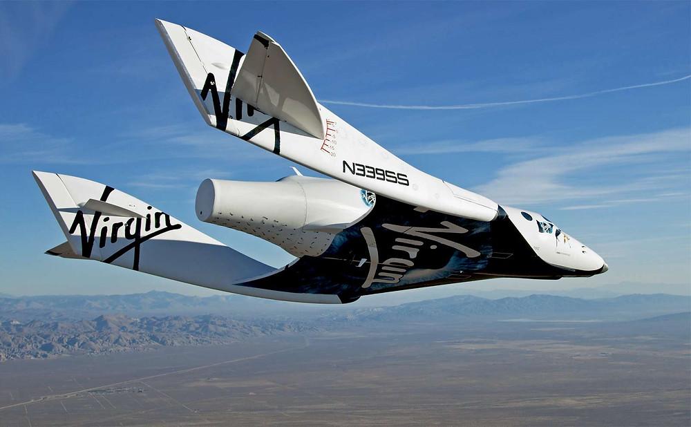 Virgin Galactic's VSS Enterprise over Mojave California [Mark Greenberg]