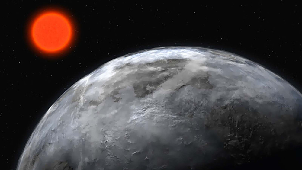 Super earth around Gliese 581 (artist's impression)