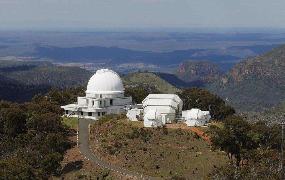 The dome of the 1.24m U.K. Schmidt Telescope at Siding Spring Observatory (Dan Falk)