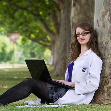 Cosmos intern Lucie Bradley, 24, a PhD chemistry student