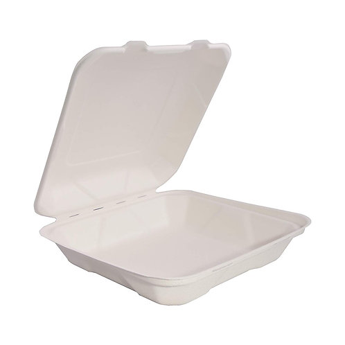 Bagasse 8 x 8 x 3 Clamshell
