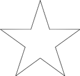A common 5 Point Star.