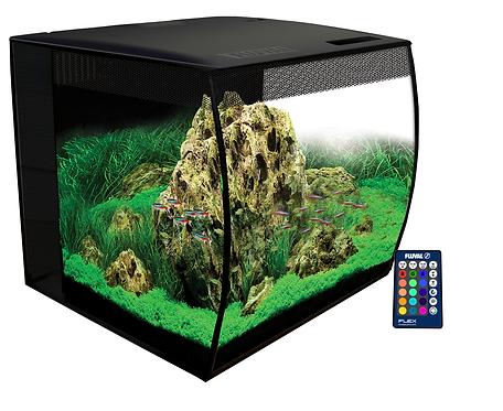 Kit acuario Fluval Flex negro con luz LED y control remoto