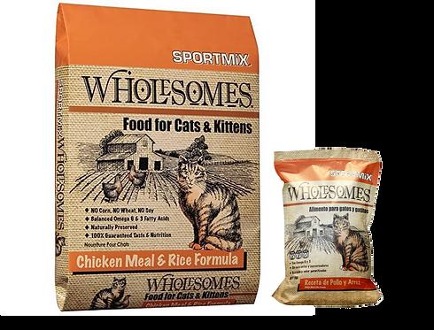 Sportmix Wholesomes pollo y arroz para gato