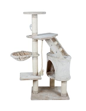 Mueble para gato con casa y hamaca 120 cm