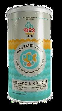 Gourmet Bites Galletas Horneadas - Pescado y Citricos 5.5 oz
