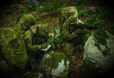 Soldiers dressed in Camoflage
