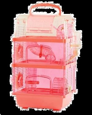 Hábitat Transportadora para roedor de 3 plantas
