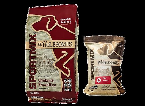Sportmix Wholesomes pollo y arroz para perro